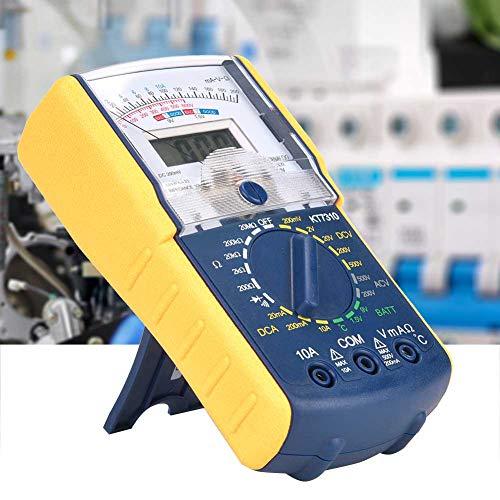Multimetro digitale,KT7310 DC/AC Doppio display palmare Analogico Digitale portatile Resistenza alla corrente Multi tester Voltmetro Amperometro Ohmmetro