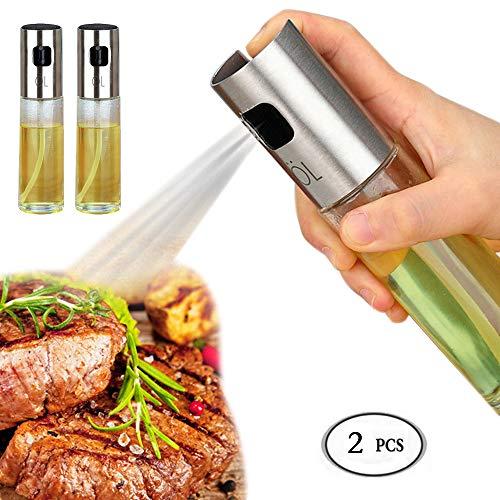 Cooking Oil Sprayer 2 Pack Olive Oil Spritzer. Sprayer, Glass Olive Oil Spritzer Bottle Cooking Oil Sprayer for Kitchen Olive Canola/Cooking/BBQ/Cooking/Frying/Salad/Baking