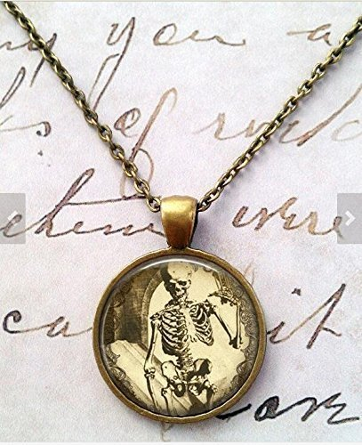 Collar de esqueleto, ciencia, gótico, steampunk, Big Bang Theory, Cruz de plata, Cruz egipcia, regalo