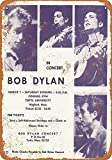 Bob Dylan in Concert at Tufts Blechschilder, Metall Poster,