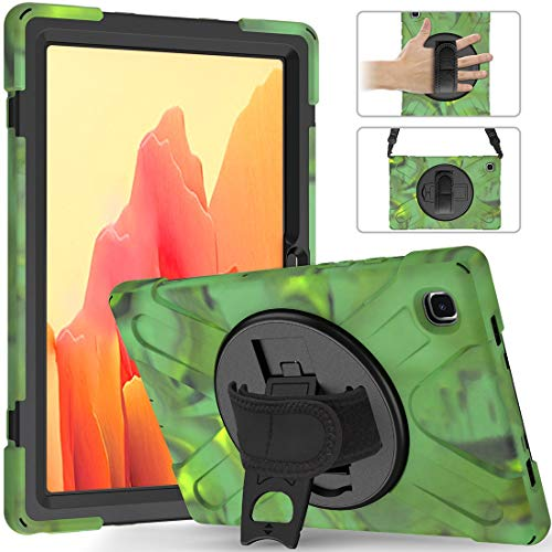 Mobile Phone Bags Pirate series Three-in-one Shatter-Resistant Shell for Samsung Galaxy Tab A7 T500/T505 2020, Drop-Proof, Dust-Proof, Shock-Proof,360 Degree Rotating Multi-Function Grip Bracket Case