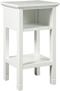 Signature Design by Ashley - Marnville Accent Table - With USB Hook-Up - Contemporary - White