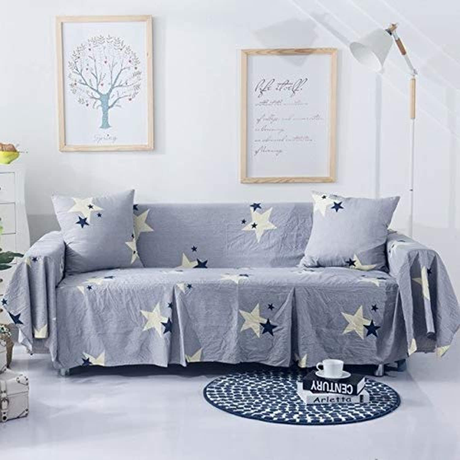 SunnyRain 1-Piece I Shaped Sofa Cover Sectional Sofa Covers Stretch Slipcover Couch Cover Sofa Predector   1211, Double Seat Sofa