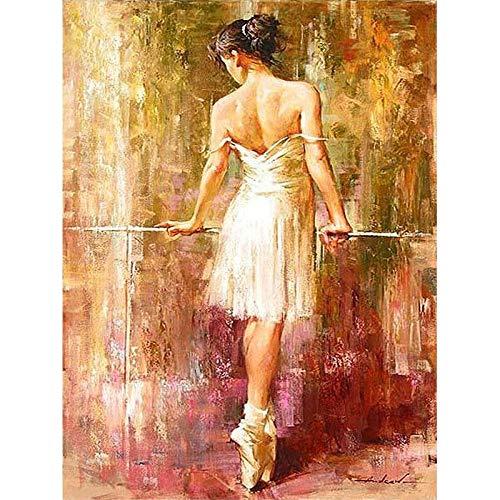 Bailarina desnuda Figura Pintura digital Prensa Digital Moderno Arte de la pared Pintura de la lona Regalo de vacaciones Decoración del hogar
