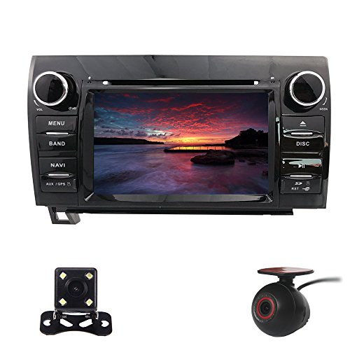Price comparison product image XISEDO Android 5.1 Car Stereo 2 Din Head Unit GPS Navigation with DVD Player for TOYOTA Tundra / Sequoia Support Bluetooth,  1080P Touch Screen with 8G Map Card+8G SD Card+Reverse Camera+DVR
