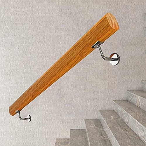 Pasamanos de escalera (1ft-20ft), barandilla de montaje en pared, barandilla de escalera de madera antideslizante, barandilla de ancianos for interiores en casa, barra de soporte de corredor, for barr