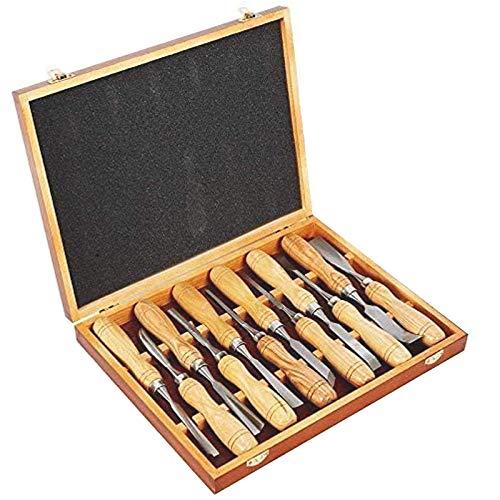 12 piezas de talla de madera de la mano del cincel conjunto...