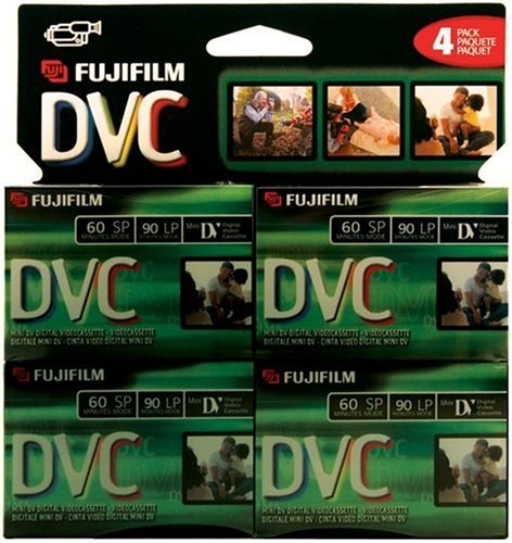 Find Discount Fuji 4 Pack 60-Minute MiniDV Tapes (DVCM604PK)