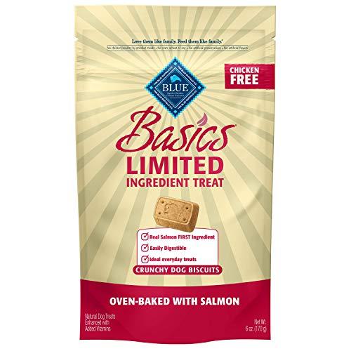 Blue Buffalo Basics Limited Ingredient Diet Biscuits Crunchy Dog Treats, Salmon & Potato 6-oz bag