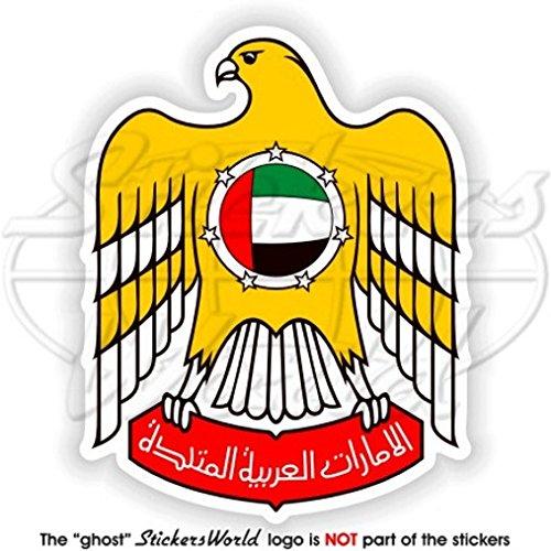 Des Émirats arabes unis armoiries de badge Écusson UAE Dubaï, Abu Dhabi 95 mm (9,4 cm) Bumper Sticker en vinyle, en
