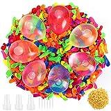 Gafild Globos de Agua,1000pcs Water Balloons de Colores Látex Water Balloons para Fiesta al Aire Libre Jardin Juguete de Diversion para Playa