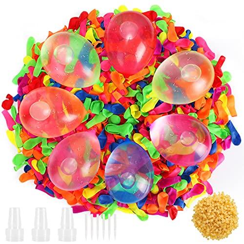 Gafild Wasserbomben Wasserballons,1000 Stück Wasserfüllballon Bunt Gemischt Wasserballonst,Latex Wasserbombenschleuder für Kinder & Erwachsene - Wasser Luftballons in bunten Farben