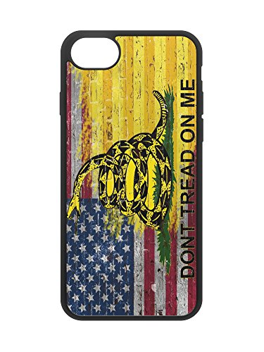 407Case American Gadsden Flag Brick Wall Compatible with iPhone 7/8 Protective Rubber Phone Case Make America Great Again MAGA