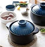 AZSXDC Casseruola Premier Moderna con Coperchio Health Housewares,Pentola in Ceramica con Pentola A Cottura Lenta in Ceramica A Resistenza Lenta,B-2.5L