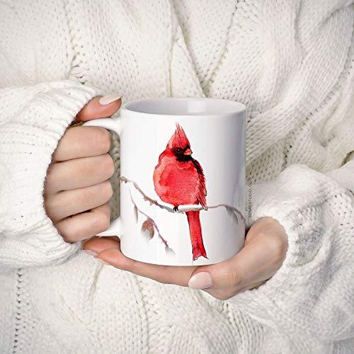 Betsy34Sophia Rode kardinaal-vogel-koffiemok koffiemok 11 oz koffiemok unieke keramische koffie- en theekop perfect cadeau