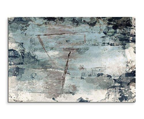 Paul Sinus Art 120x80cm Leinwandbild Leinwanddruck Kunstdruck Wandbild grau braun schwarz beige Grunge