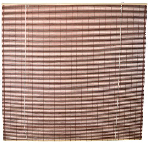 Oriental Furniture Burnt Bamboo Roll Up Blinds - Mahogany - (72 in. x...