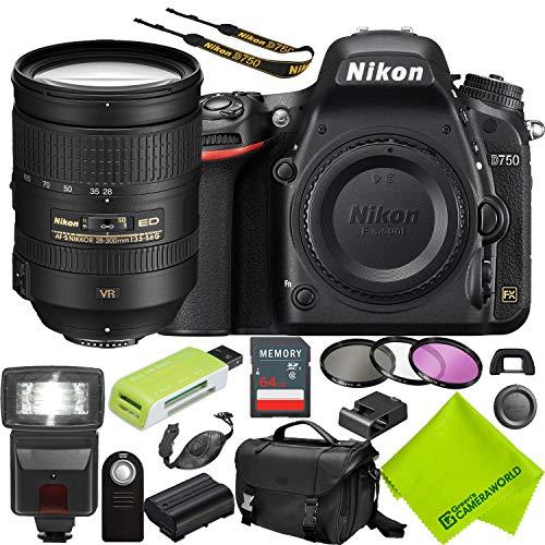 Nikon D750 DSLR Camera with Nikon 28-300mm Lens Starter Kit