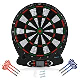 Electronic Dartboard, Professional Electronic Hanging Dartboard LCD Scoring Indicator Dart Game with Darts