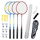 Airsnigi Badminton Set, Portable Outdoor Badminton Combo Set...