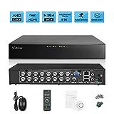 Westshine 1080P 16CH de Vigilancia Grabador de Video Digital CCTV H.264 DVR NVR para AHD/TVI/CVI/CVBS/IP Seguridad Cámara,Soporta Onvif P2P HDMI,Detección de Movimiento,Alarma Email (Sin Disco Duro)