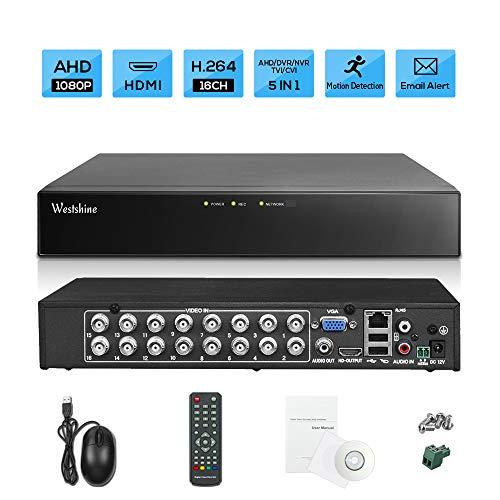 Westshine 16-Kanal 1080P Digitaler Videorekorder NVR DVR H. 264 CCTV Motion Detection E-Mail Sicherheitsalarm P2P Cloud für Überwachungskamera