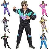 Foxxeo 80er Jahre Kostüm für Erwachsene Premium 80s Trainingsanzug Assianzug Assi - Herren Größe...