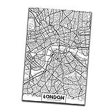 rongweiwang Londres Nueva York París Lienzo Nueva York París Pintura Pintura Mural Mundial Mapa de la Ciudad del Cartel Negro Blanco El extracto de Aceite de Imagen Dibujo Aceite sin Marco