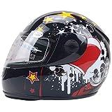 DYOYO Casco Integrale Moto Helmet Bavaglino Rimovibile Fibbia Rapida Fodera Confortevole e Traspirante Sicurezza e Affidabilità Certificazione ECE per Adulto(50-55cm)