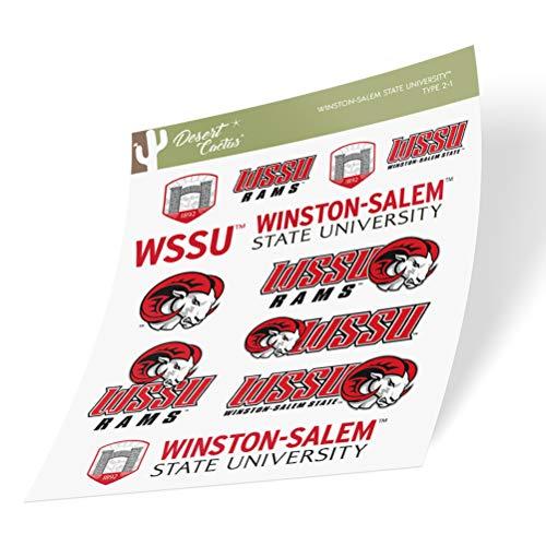 Winston-Salem State University WSSU Rams Sticker Vinyl Decal Laptop Water Bottle Car Scrapbook (Type 2 Sheet)