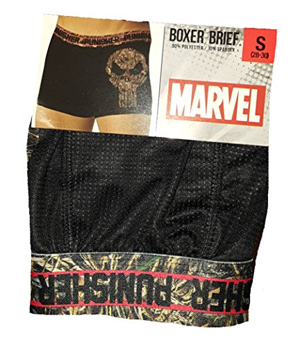 Mad Engine Comics Punisher Realtree Camo Camouflage Logo Boxer Briefs - Small
