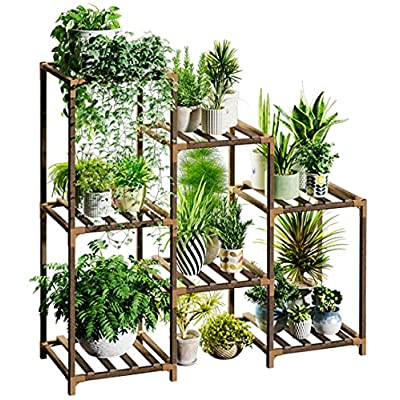 Amazon - 30% Off on  Plant Stands for Indoor Plants, Wood Outdoor Tiered Plant Shelf for Multiple Plants