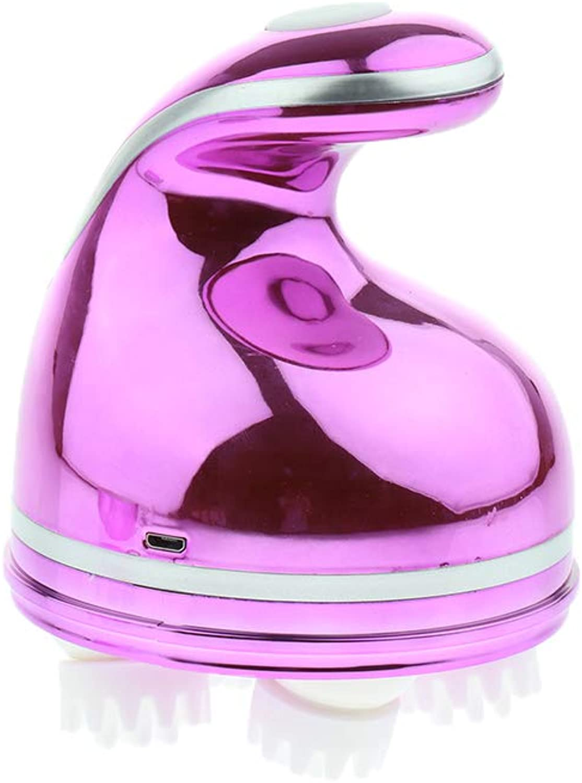 Baoblaze Waterproof Electric Scalp Massager Vibrating Head Hair Care Vibrate Brush  Type 2 Pink