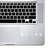 StickAny Palm Series Graphic Designer Photoshop Icons Sticker for MacBook Pro, Chromebook, and Laptops (White)