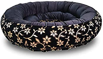 Mellifluous Premium Reversible Velvet Dual Black Gold Color Bed for Cats & Dogs