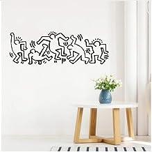 Adesivi Murali Keith Haring.Amazon It Haring Keith Adesivi E Murali Da Parete Pitture Trattamenti Per Pareti E U Fai Da Te