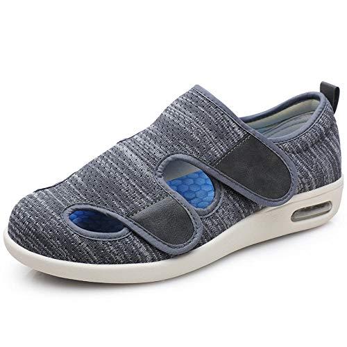 CCSSWW Ajustables para HinchazóN del Pie, Artritis,Zapatillas diabéticas se Pueden sellar.-Gris Oscuro_39,Zapatillas DiabéTicas Zapatos Extra Anchos