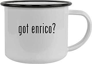 got enrico? - 12oz Stainless Steel Camping Mug, Black