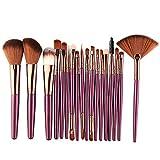 CZA Set de Pinceles de Maquillaje, 18pcs Correctores en Polvo de Base Sombras de Ojos labiales Blending Eye Set de Pinceles de Maquillaje para maquilladores Profesionales y Principiantes,5445zk