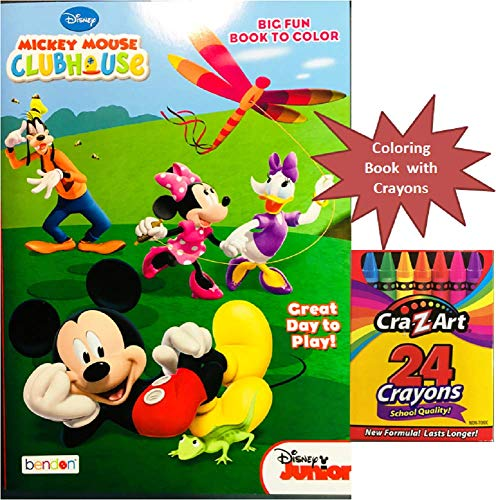 Party Deal Mickey Mouse Clubhouse Big Fun Coloring & Activity Book with Crayons