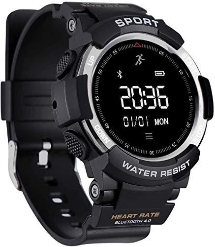 YSNJG Reloj De Fitness Al Aire Libre, Rastreador Actividades Smart Watch con Monitor Ritmo Cardíaco, Contador Pasos, Podómetro Calorías,Plata
