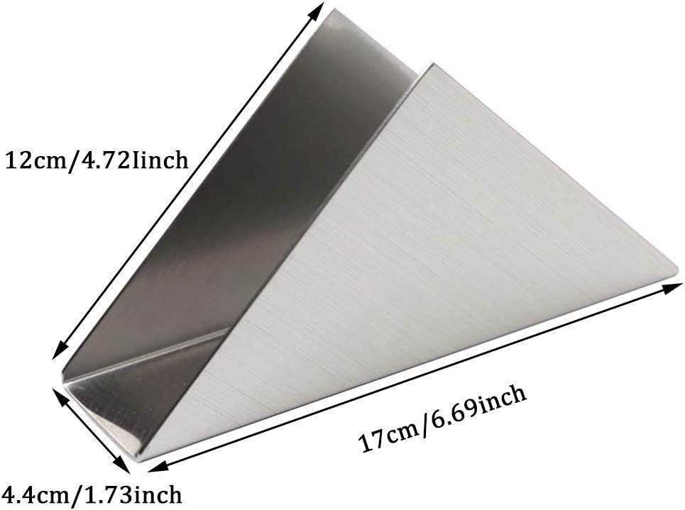 Dauerhaft Einfachheit Rostfreier Stahl Dreieck Serviettenhalter f/ür K/üchenarbeitsplatten Vertikaler Serviettenhalter Silber Esstische YGHH K/üche Serviettenspender Metall Papierserviettenhalter