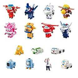 "This Super Wings World Airport Collector Pack features fan-favourite characters from Season 2 including 2"" Transform a bot scale: Jett, Jerome, Dizzy, Flip, Todd, Astra and Agent Chase from the hit preschool Super Wings show. 2 Inch scale transformin..."