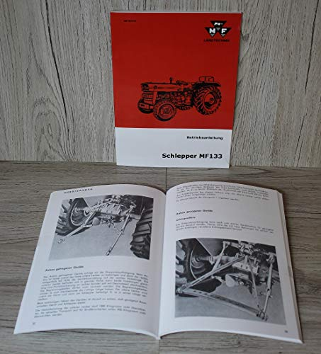 Massey Ferguson Betriebsanleitung Bedienungsanleitung Traktor MF 133