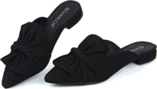 Sponsored Ad - Samilor Mules for Women Flats Fashion Bow Mules Comfortable Slip On Women's Flats Backless Loafers Casual F...