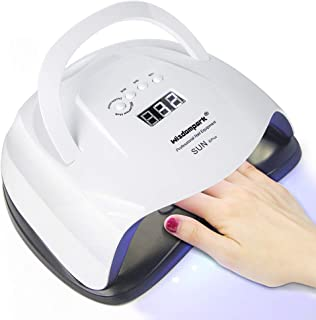 Wisdompark UV Nail Lamp,64W/54W Nail Dryer Lamp,42 pcs LED Nail Dryer Light Curing Lamp With 4 Timer Setting/Sensor/lifting handle for Led UV Gel Nail Polish