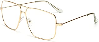 Classic Glasses Clear Lens Non Prescription Metal Frame Eyewear Men Women