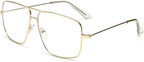 Dollger Classic Glasses Clear Lens Non Prescription Metal Frame Eyewear Men Women