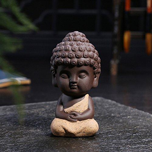 JETTINGBUY Cute Small Buddha Statue Buddha Statue Monk Figurine India Yoga Mandala...