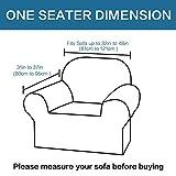 BellaHills Dicke 1 Sitzer Sofabezüge für 2-Kissen-Couch Stilvolle Muster-Sofabezüge für Sofa Stretch Jacquard Sofa Schonbezug für Wohnzimmer Hund Haustier Möbelschutz (2 Sitzer, Salbei) - 5